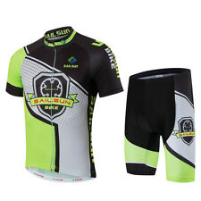 Bicycle Men Wear Comfortable Tops + Bib Shorts Cycling Jersey Short Sleeve Set