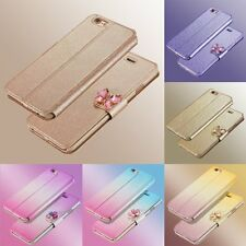Luxury Flip Leather Slim Wallet Card Magnetic Case Cover For iPhone & Samsung