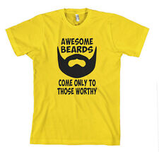 AWESOME BEARDS COME ONLY TO THOSE WORTHY FUNNY Unisex Adult T-Shirt Tee Top