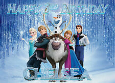 Frozen Personalised Edible Image REAL Icing X-Large Cake Topper