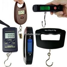 N98B Electronic Digital LCD Luggage Weight Portable Travel Hanging Hook Scale