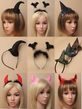 PACK OF HALLOWEEN ALICE BAND / DEELEY BOPPERS - PARTY, FANCY DRESS; WITCH, BAT