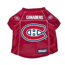 NEW MONTREAL CANADIENS PET DOG PREMIUM JERSEY w/NAME TAG ALL SIZES LICENSED