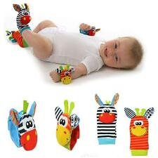 Cute Baby Infant Animal Soft Toy Hand Wrist Bells Rattles Socks Foots Finders