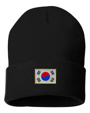 SOUTH KOREA FLAG Embroidery Embroidered Beanie Skully Hat Cap