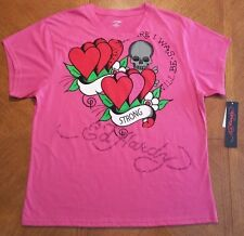 Ed Hardy Womens Pink Graphic T-Shirt..........