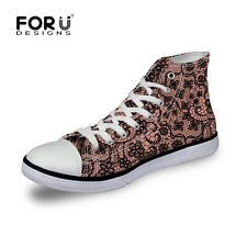 Ladies Classic Comfort Shoes High Top Canvas Casual Walking Sports Sneakers Size