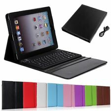 Hot Stand Bluetooth Keyboard Case Leather Cover For Apple iPad 2 3 4 Air 1 2