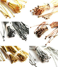 100pc 2 inch Brass High Quality Ball Pins Metal Plated Silver Gold Copper 21Ga
