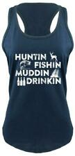 Huntin Fishing Muddin Drinking Ladies Tank Top Country Redneck Funny Tank Top Z6