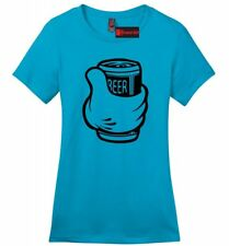Thumbs Up Beer Funny Ladies T Shirt Drinking Beer Lover Party Alcohol Tee Z4
