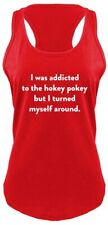 Addicted To Hokey Pokey Funny Ladies Tank Top Cute Geek Humor College Tank Z6