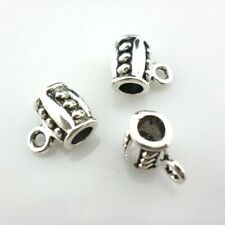 20/40/300pcs Tibetan Silver Connectors Spacer Bail Beads Charms 7x9x11mm