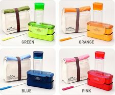 Lunch Box Set Lock&Lock Chopstick Insulated Bag Bento Containers Travel Picnic