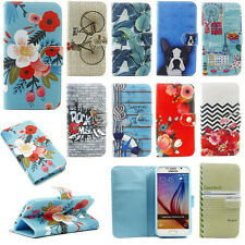 Cute Patterned PU Leather Case for Samsung Huawei iPhone LG G5 Phone Stand Cover