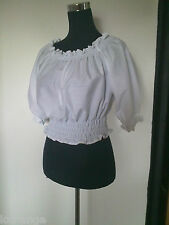 Peasant/Gypsy Blouse all sizes and colours. Steam punk/50's