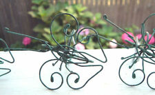 Pottery Barn Set 4 Butterfly Wire Napkin Rings Patina Green New