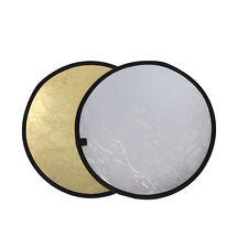 60/80/110cm 2in1 Light Mulit Collapsible Disc Photography Reflector Silver/Gold
