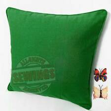 A43-Emerald Cotton Canvas Cord Cushion Cover Custom Size + Butterfly Pin