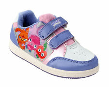 GIRLS OFFICIAL MOSHI MONSTERS WHITE / PURPLE CASUAL TRAINERS SHOES UK SIZE 10-2