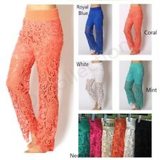 Sweet Lace Embroidery Long Tiered Pants Under Safety Pants Shorts Hot