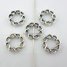 28/220pcs Tibetan Silver Perforation Rings Spacer Beads 15.5x3mm  (Lead-free)