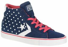 Converse Pro Leather Women Men Blue Boots Hi Sneakers Shoes Trainers All Sizes~