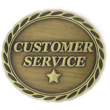 Customer Service Bronze Lapel Pin