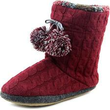 Cuddl Duds Cable Knit Fleece Lined Boot Slipper Women   Slipper NWOB