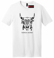 Buffalo Soldier Mens V-Neck T Shirt Rasta Hippie Stoner Weed Music Tee