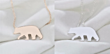Silver Gold Plated Polar Bear Necklace Cute Small Animal Pendant in Gift Bag/Box