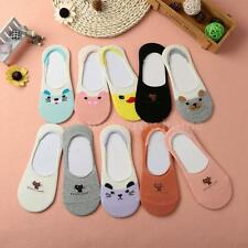 New Women Cotton Socks Cat Loafer Boat Invisible Liner Low Cut Non-Slip Y0A2