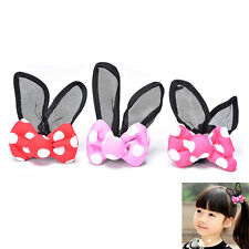 Bunny Ears Hair Bands Children Hair Accessory Kids Lace Rabbit Ears Bow Headband