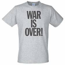 Grey T-Shirt with WAR IS OVER - John lennon and yoko influenced
