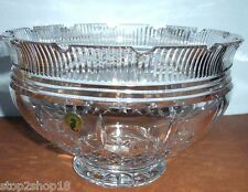 "Waterford Crystal Lismore Castle Footed Bowl 10"" #129674 New In Box"