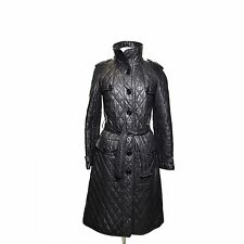 Burberry Black Quilted Leather Trench
