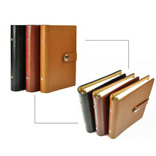 A5 Loose Leaf PU Leather Notebook Diary Ruled Planner Journal Organiser Note #UK