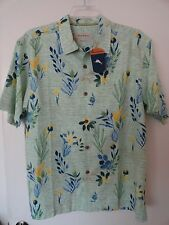 NWT TOMMY BAHAMA SHORT SLEEVE MENS CASUAL SHIRT SILK COTTON BLEND $118+ Sz L
