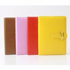 Leather Colorful Notebook Schedule Monthly Planner Diary Journal Note Memo #UK