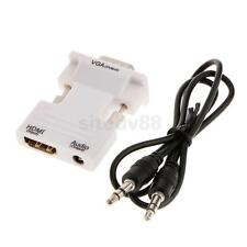 HDMI Female To VGA Male 1080P HD Video + Audio Cable PC Converter Adapter