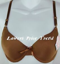 PLAIN DEMI BRA 36B UNDERWIRE 36B Brown NEW BR4009P
