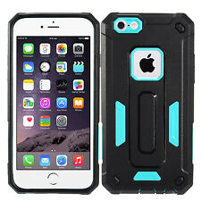 Blue Dual Layer Hybrid Armor Cover Protector Phone Case Apple iPhone 6 6s
