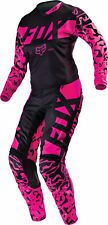 Fox Racing Womens Black/Pink 180 Dirt Bike Jersey & Pants Kit Combo
