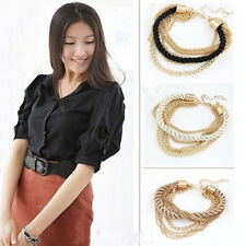 HOT SALE Womens Bracelet Gold Chain Braided Multilayer Rope Bangle Handmade DIY