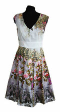 ex Laura Ashley Dress - Laura Ashley Vintage Rose Print 50's Fit & Flare Dress
