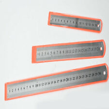 "6"" 8"" 12"" Stainless Steel Double Side Scale Straight Measuring Ruler Precision"