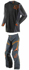 Fox Racing Mens Grey/Orange Legion Offroad Dirt Bike Jersey & Pants Kit Combo