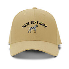 Your Text Here Custom Dalmatian Embroidered Adjustable Hat Baseball Cap
