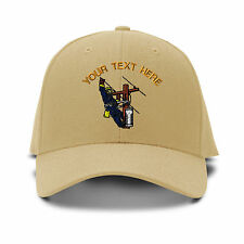 Your Text Here Custom Lineman Embroidered Adjustable Hat Baseball Cap