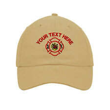 Your Text Here Custom Firefighter Logo Embroidered SOFT Unstructured Hat Cap